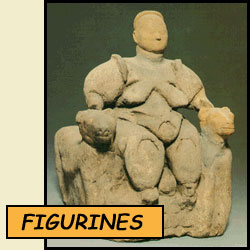 seated goddess figurine