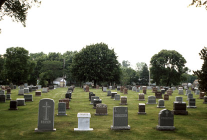 photo of a graveyard